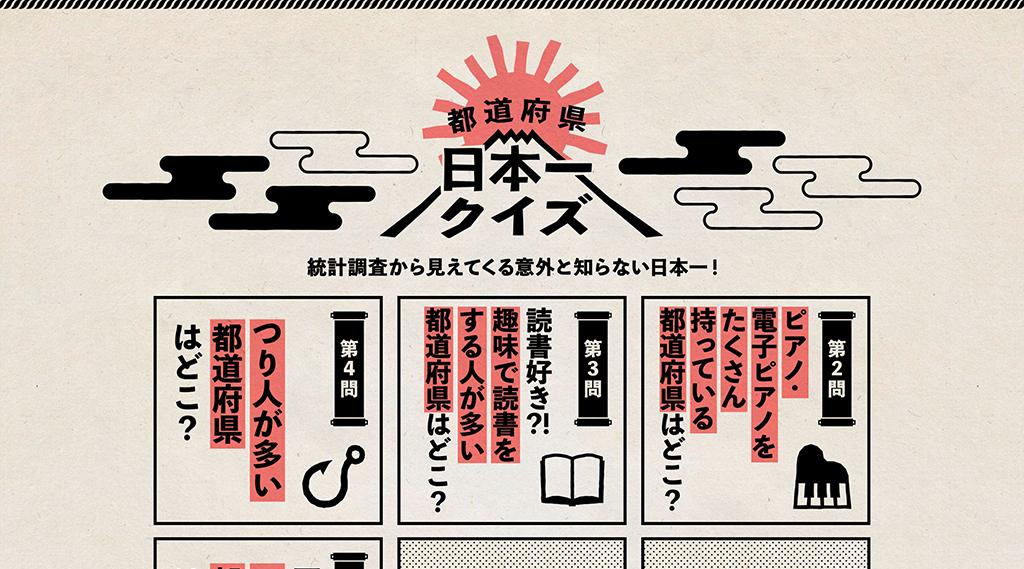 Kao PLAZA特集「都道府県日本一クイズ」 キャンペーンページ制作